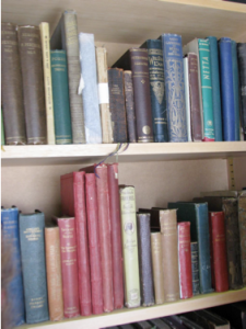 Figure 12.  Selections from Charlotte Mason's personal book collection.