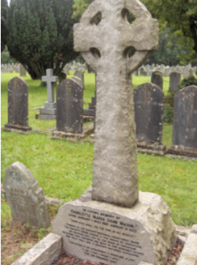 Figure 15.  Mason's grave marker in the cemetery of St. Mary's Parish Church.
