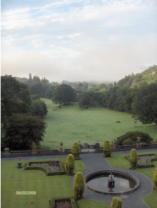 Figure 3.  Mists of dawn creeping over Lake Windermere as seen from a bedroom window.