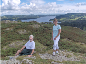 Figure 8.  At the height of Loughrigg Fell overlooking Lake Windermere on Sunday afternoon.