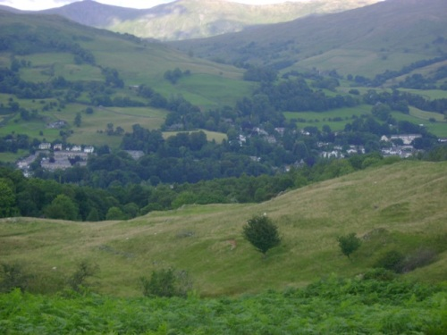 Ambleside Viewed from Our Hike