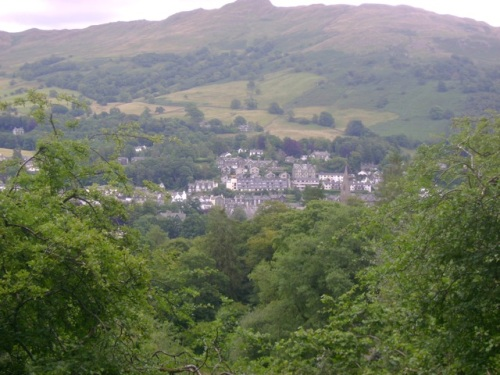 Rydal Hall as viewed from our hike