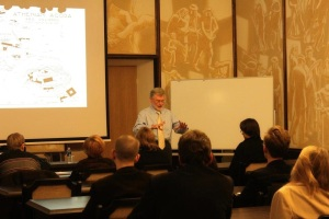 Dr. John Thorley teaching in Lithuania